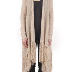 BCBGMaxAzria Soho Fringed cardigan sweater